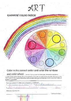 FREE Rainbow Color Wheel Art Lesson