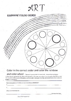 Free Rainbow Color Color Wheel Art Lesson By Whitetigerrenee Tpt