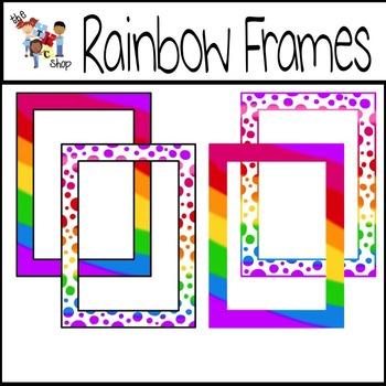 FREE! Rainbow Frames
