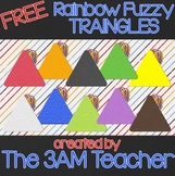 FREE Rainbow Fuzzy Triangles: Digital Clip Art