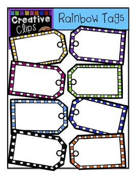 FREE Rainbow Gift Tags {Creative Clips Digital Clipart}