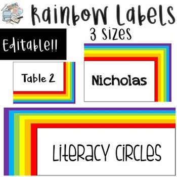 FREE Rainbow Labels