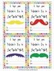 FREE Rainbow Moustache Valentine's Day Cards