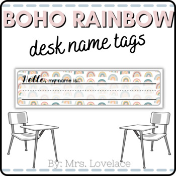 Free Rainbow Name Tags For Desk Printable By Mrs