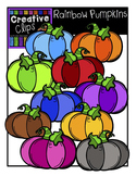 {FREE} Rainbow Pumpkins {Creative Clips Digital Clipart}