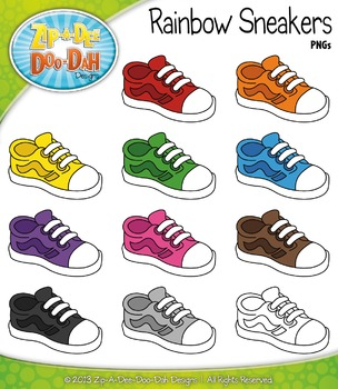 {FREE} Rainbow Sneakers Clipart Set — Includes 11 Graphics!