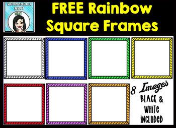 FREE Rainbow Square Frames