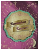 FREE color Ramadan informative bulletin board