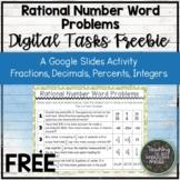 FREE Rational Number Word Problems Google Slides | Distanc