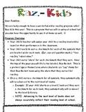 FREE Raz- Kids Family Program Letters