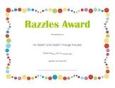 End of Year Candy Bar Award Award (Single)