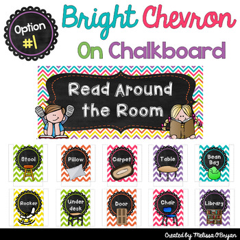 Read Around the Room Editable Flexible Seating Display