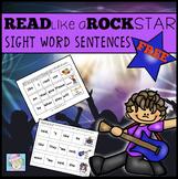 Sight Word Sentences Kindergarten and First Grade FREE