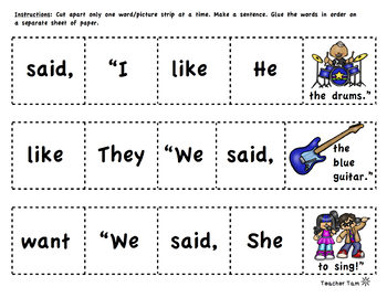 Sight Words Worksheets 1st Grade Kindergarten Free Sight Word Activities Free