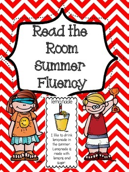 FREE Read The Room Sentences - Summer Theme