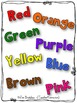 FREE Reader:  The Colors of Camping Book ~ Predictable Pattern ~ Reading