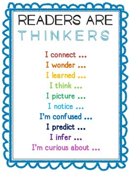 FREE Readers Are Thinkers Anchor Chart