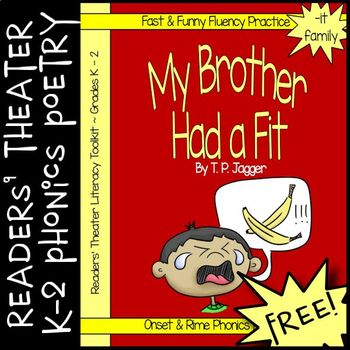 FREE Readers' Theater Onset & Rime Phonics Poem & Activities (Grades K, 1, 2)