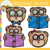 FREE Reading Bear Clip Art