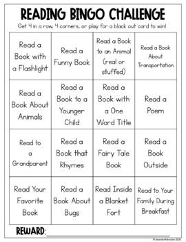 FREE Reading Bingo Challenge