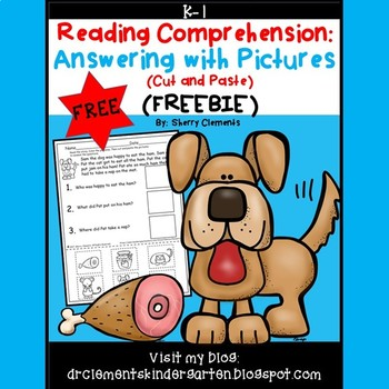 FREE DOWNLOAD : Reading Comprehension Answering with Pictures (Cut and Paste)