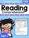 FREE Kindergarten Reading Comprehension Passages (SET 1)