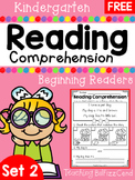 FREE Kindergarten Reading Comprehension (SET 2)
