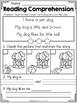 FREE Kindergarten Reading Comprehension (SET 2)