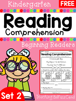 FREE Reading Comprehension SET 2 - Beginning Readers