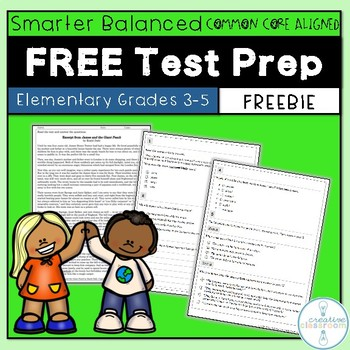 FREE Reading Comprehension Passage with SBAC Questions Grades 3-5