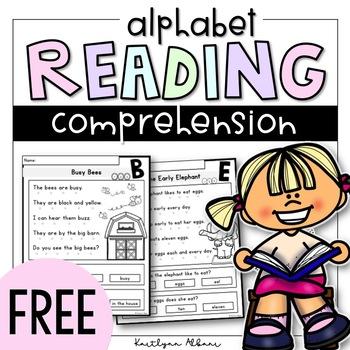 FREE Reading Comprehension Passages - Alphabet Focus