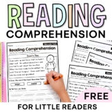 FREE Reading Comprehension Passages - Reading Strategies [Little Readers]