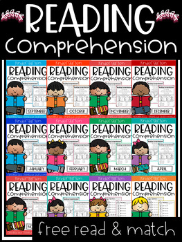 FREE Reading Comprehension Read and Match