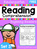 FREE Kindergarten Reading Comprehension (SET 3)