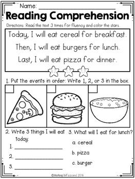 FREE Kindergarten Reading Comprehension (SET 3) by ...