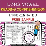 FREE - Long Vowel Word Families Reading Comprehension & Word Work