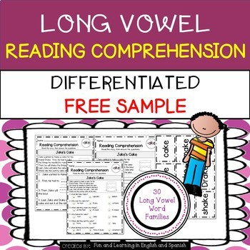 FREE - Reading Comprehension Stories & Questions:Long Vowe