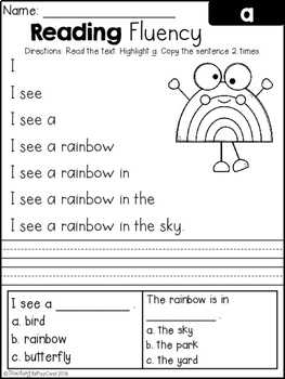 Adaptable image intended for printable reading fluency games