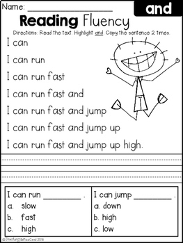 FREE Reading Fluency and Comprehension (Set 1) by Teaching ...