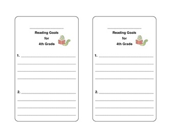 FREE! Reading Goal Bookmarks!