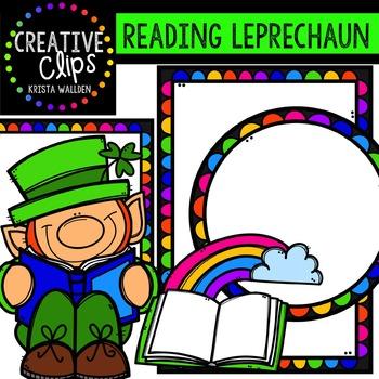 FREE Reading Leprechaun {Creative Clips Digital Clipart}