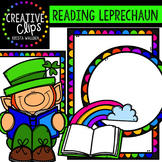 FREE Reading Leprechaun {Creative Clips Digital Clipart}