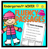 Winter Fluency Passages Kindergarten First Grade Sentence Scramble