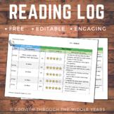 FREE Reading Log