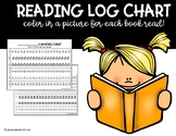 FREE Reading Log Picture Chart