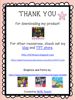 FREE Reading Log Poster!