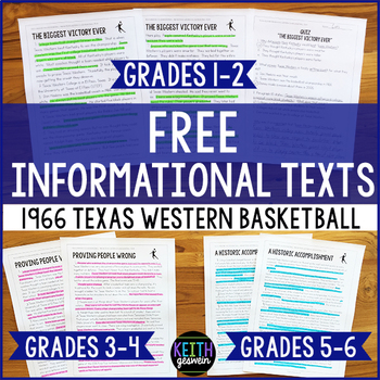 FREE Reading Passages: 1966 Texas Western College Basketba