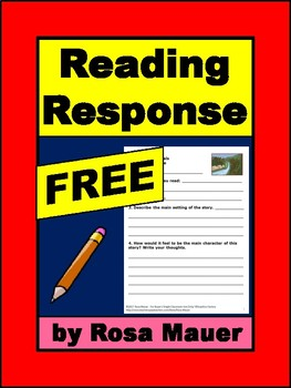 FREE Reading Response Form for Books Related to Nature and