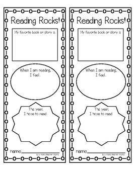 FREE Reading Rocks Bookmark