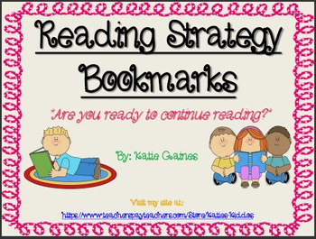 FREE Reading Strategy Bookmarks!